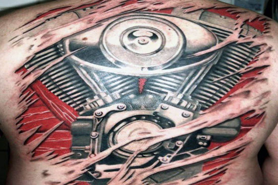 motor bike tatoo artists